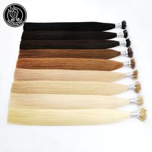 цена на Fairy Remy Hair 1g/s 20 inch Micro Beads Real Remy Nano Ring Links Human Hair Extensions 50g 100g 150g Blonde Black 37 Colors