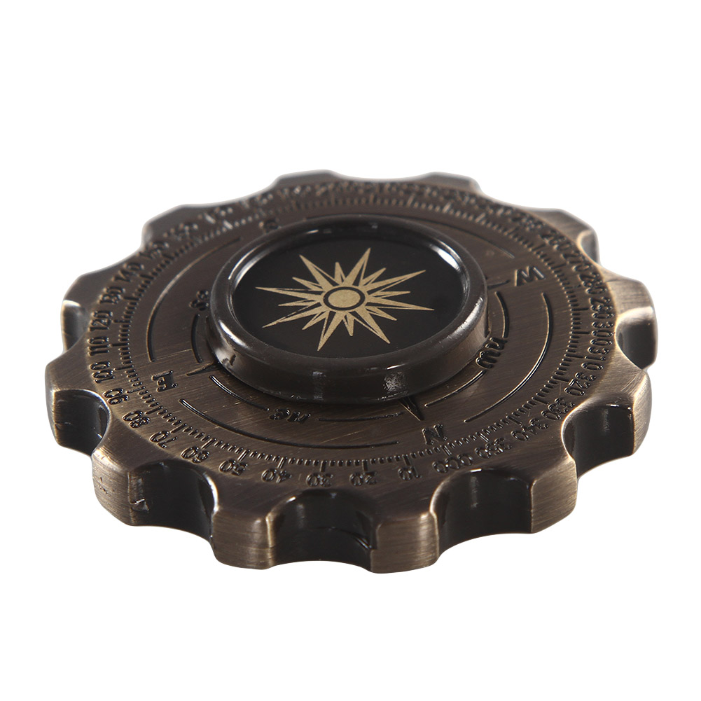 2017 New Creative Compass Hand Spinner For ADHD Stress Relief Toy For Kids Long Spin Times Toys