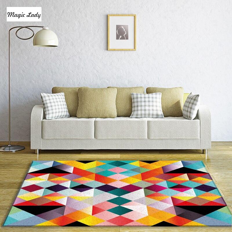 Teppich Farbe Wohnzimmer Schlafzimmer Quadrate Kreuz Zellen ...