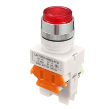 UXCELL 1PCS 23/24mm Switch Mounting Hole Red Green Sign Emergency Stop Push Button Switches Led Light 220V Switch Accessories [vk] rafi button switch lumotast 22 emergency stop rafi switch button 1 15 105 011 0000 2nc with led
