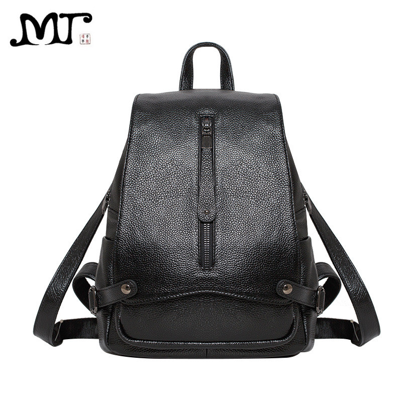 MJ 2017 New Arrival Women Bags Fashion Genuine Leather Backpack High Quality Cow Leather School Bag Travel Bag