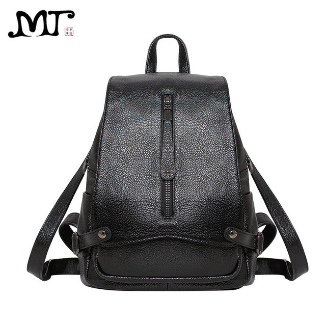 3d9af34f89 MJ 2017 New Arrival Women Bags Fashion Genuine Leather Backpack High Quality  Cow Leather School Bag Travel Bag