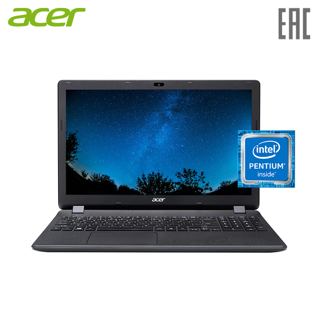 "Ноутбук acer EX2519-P2YA 15.6""/N3710/4 ГБ/SSD 128 ГБ/Без привода/Windows10 (NX. EFAER.090)"