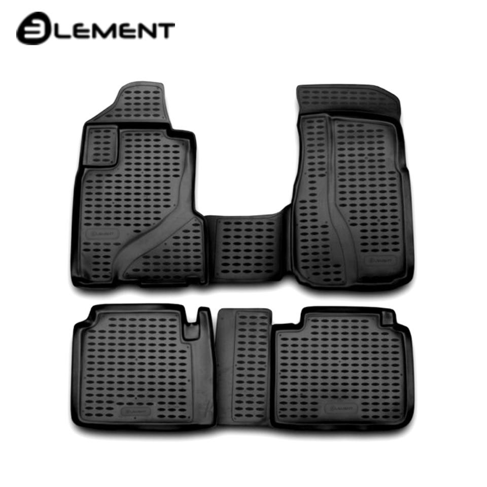 For Honda CR-V II 2002-2006 floor mats into saloon 4 pcs/set Element NLC1803210 for toyota corolla e120 2002 2007 floor mats into saloon 4 pcs set element nlc4803210k