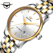 цена на AILANG Luxury brand classic gold men's full steel mechanical watch automatic self-wind watches business watch designer dress