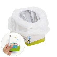 Дети небольшой портативный путешествия складной горшок сиденье для ребенка приучение к туалету- детский горшок писсуар