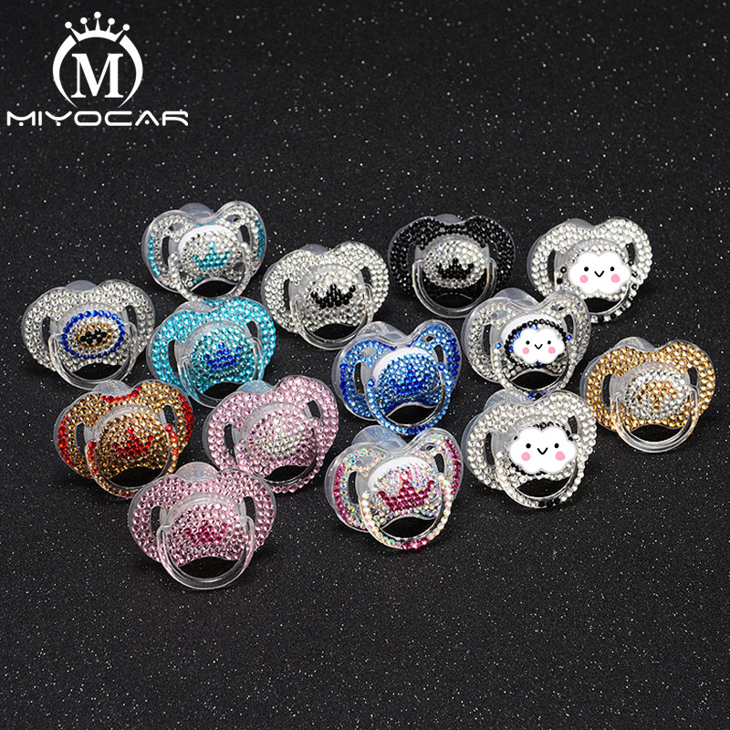 MIYOCAR 12 Colors  Bling Crystal Rhinestone Baby Pacifier/ Nipples /Dummy /cocka /chupeta &pacifier Unique Gift