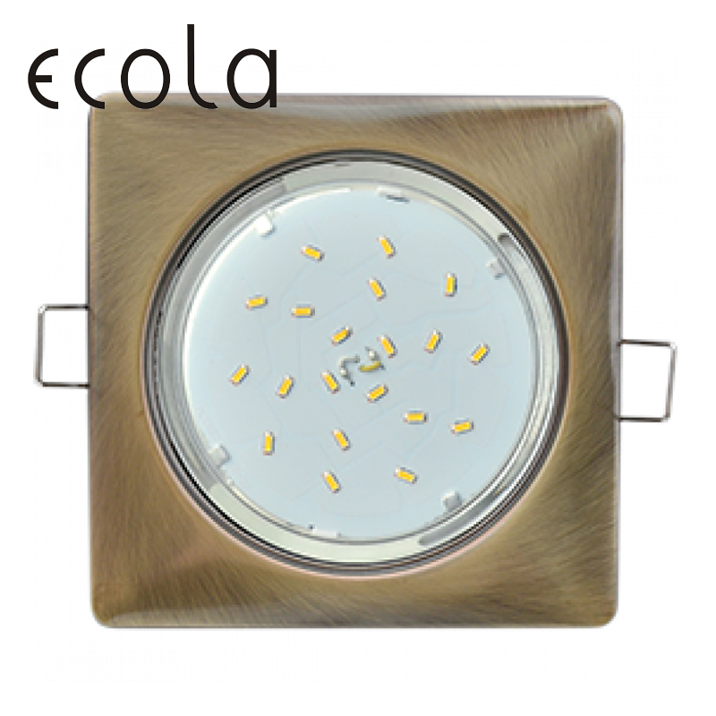 Ecola GX53 H4 recessed square lamp GX53 square without reflector 107x41 лампочка ecola led gx53 8w tablet 220v 6400k матовое стекло t5md80elc