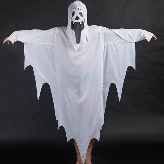 Fantasma bianco Brandelli Abito Maschera Ragazzo Della Ragazza Dei Bambini  Halloween Costume a34c52e7d459