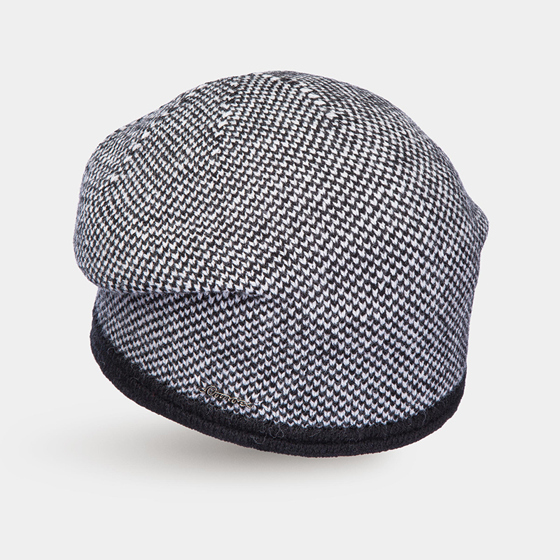 Hat for women Canoe 4703670 BARBARA trendy pu leather solid color octagonal newsboy hat for women