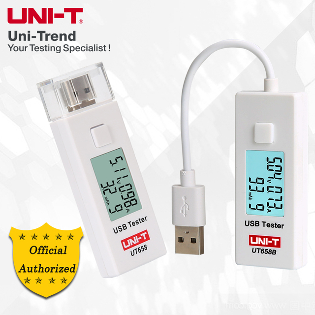 UNI-T UT658 UT658B USB Tester; Cell Phone / Mobile Power / Notebook / Digital Products / Voltage and Current Monitors