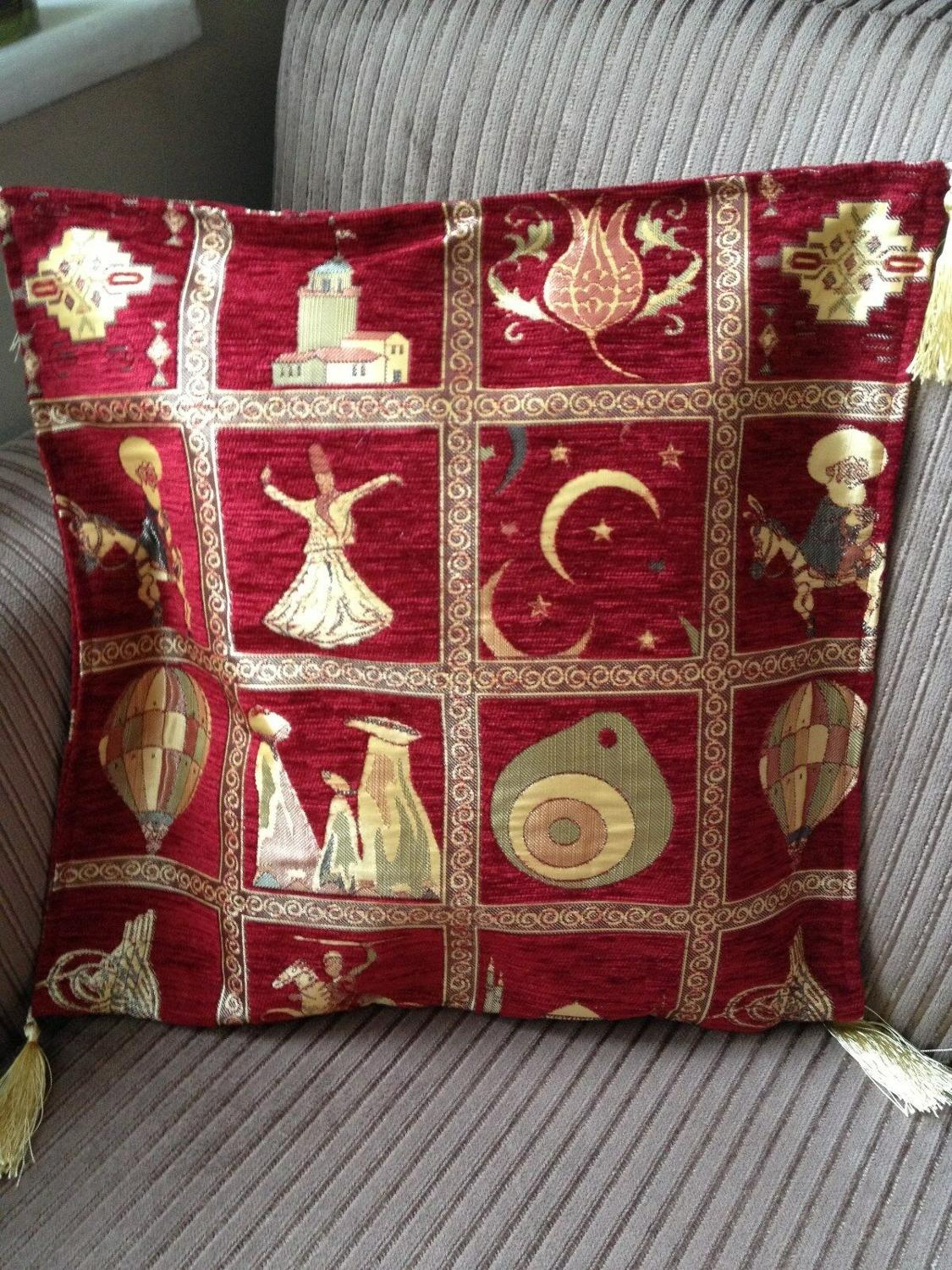 Turkish High Quality Ottoman Style Chenille Cushion Pillow Cover 17
