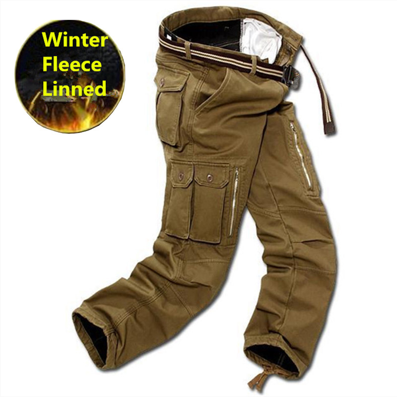 Winter Tactical Cargo Pants Men Military Clothing Tactico SWAT Mens Working Trousers Thick Warm Pants CS  Pantalones Para Hombre