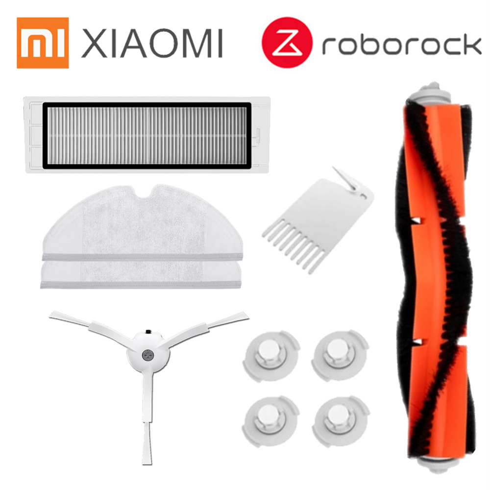 Roborock S50 S51 Parts Suitable for Xiaomi Vacuum Cleaner 2 HEPA Filter Mop Cloths Main Brush Tool Side Brush Water tank filter цена и фото