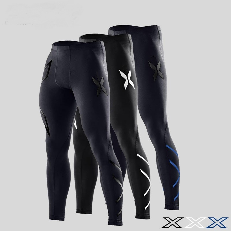 Compression pants mens Autumn and winter running tights trousers fitness pants elastic marathon quick-drying ...