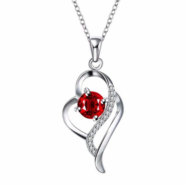 925 Sterling Silver Crystal Necklaces Pendants Sale Pure Silver Cross Jewelry For Women Silver Blue Red Hollow Zircon Necklace 1
