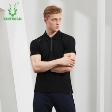 Summer Sports Polo Shirts Tops Men's Cotton Breathable Running T-Shirts Fitness Workout Short Sleeve Sportswear