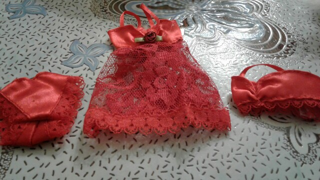 3 Pcs/Set Sexy Pajamas Lingerie Lace Costumes + Bra + Underwear Dress Clothes For Barbie Doll Clothes Accessories Girl Toy