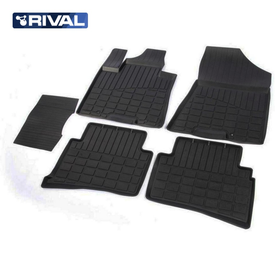 For Hyundai Tucson III 2015-2019 rubber floor mats into saloon 5 pcs/set Rival 62309001 full set cables for digiprog iii odometer programmer