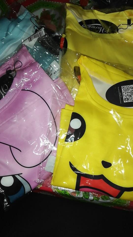 Women'S Squirtle Jigglypuff Pikachu Crop Top Harajuku Loose 3D Pokemon Cartoon Print Sweatshirt Ladies' Pullover photo review