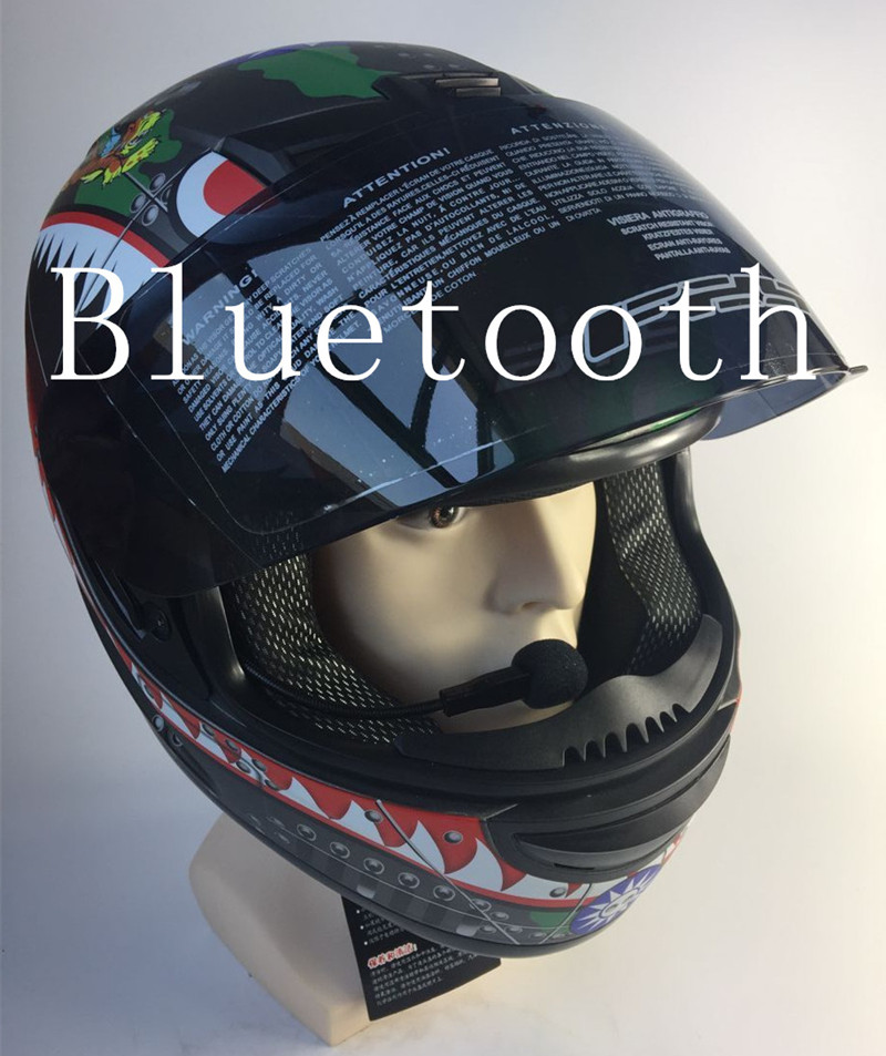 free shipping bluetooth helmet for phone motorcycle helmet full face racing helmets with sunny lens M L XL size helmet no2 free shipping bluetooth helmet for phone motorcycle helmet roadcross double visors racing helmets with sunny lens s m l xll