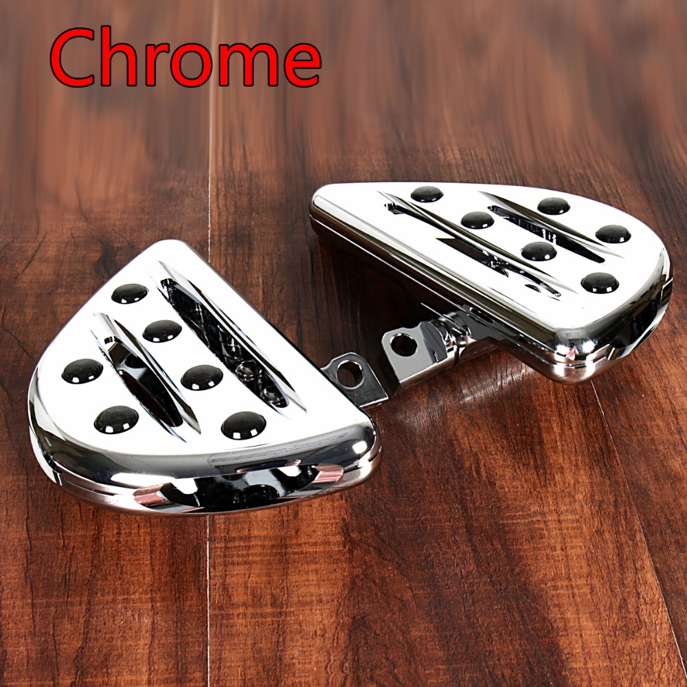 Rear Chrome Shallow Cut Passenger Floorboards For Harley Touring Street Glide Dyna Sportster 883 Models