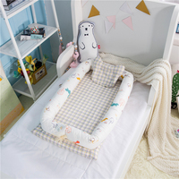 Portable Baby Crib Baby Nest Bed Cradle Cot Co sleeping Bed 95*50*15cm(37*19*6in) Folding Bed for Baby Care