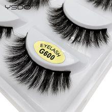 YSDO 5 pairs faux mink eyelashes natural long lashes cilios make up false dramatic soft thick