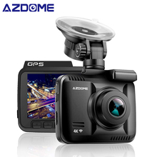 AZDOME GS63H 4 К 2160 P GPS Wi-Fi Автомобильные видеорегистраторы Регистраторы регистраторы Двойной объектив задняя камера для автомобиля Встроенная камера с Ночное видение Dashcam