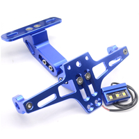 CNC Aluminum Motorcycle Rear License Plate Mount Holder With LED Light For SUZUKI GSR 600 750