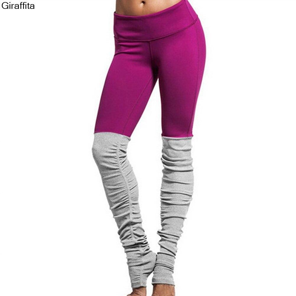 Women Leggings Pants Patchwork Fitness Skinny Slim Legging Pant Push Up Sexy Hips Step on Foot