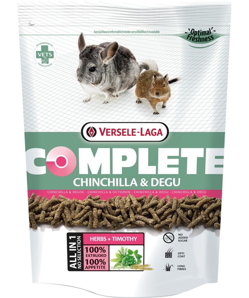 Rodent food VERSELE-LAGA feed for chinchillas and degu Complete Chinchilla & Degu 1,75kg корм versele laga complete chinchilla