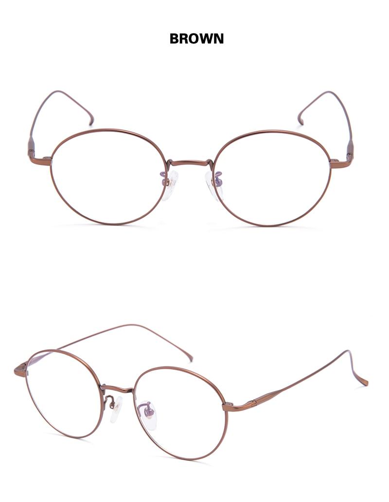 820146e702 ... redondas de titanio Chashma para mujer monturas de Gafas ópticas Retro  Gafas de moda para estudiantes Gafas para Hombre. Lentes de prescripción  servicio ...