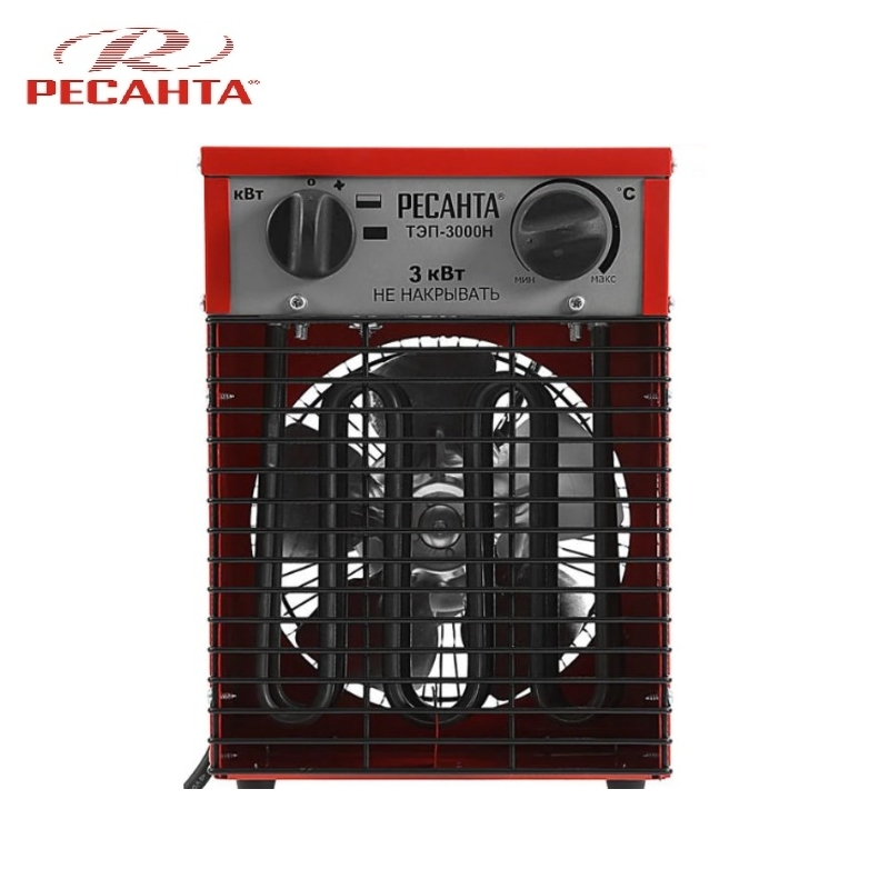 Electric  fan heater RESANTA TEP-3000N (compact) Hotplate Facility heater Area heater Space heater 240mmx240mm 300w 110v ntc100k 3m adhesive electric heating plate silicone heater 3d printer heater silicone heated pad flexible