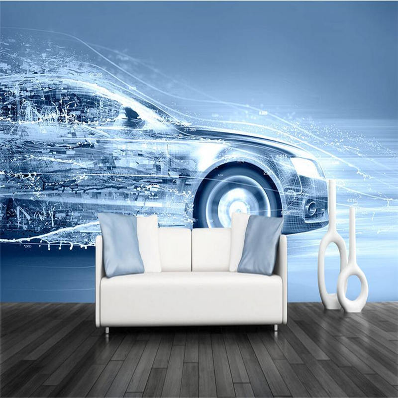 Geometric Wall Papers Dynamic Car Wall Murals Custom Photo Wallpapers 3D Walls Fashion Bar Wallpapers for Living Room Home Decor