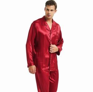 Image 4 - Mens Silk Satin Pajamas Set  Pajama Pyjamas Set  PJS  Set  Sleepwear  Loungewear  S,M,L,XL,2XL,3XL,4XL__Perfect  Gifts