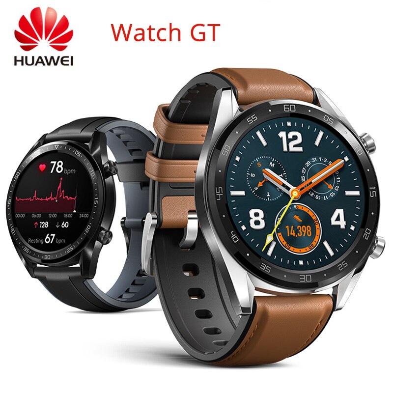 Huawei honor relógio gt gps relógio bt4.2 5atm 2 semana de vida útil da bateria rastreador atividade notificações inteligentes coaching esporte ao ar livre relógio