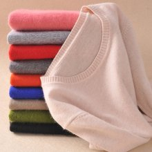Fashion 100 Cashmere Pullover Womens Sweaters 2015 Spring Mink Women Oneck Knitted Sweater Jumper Tops Wholesale Retail