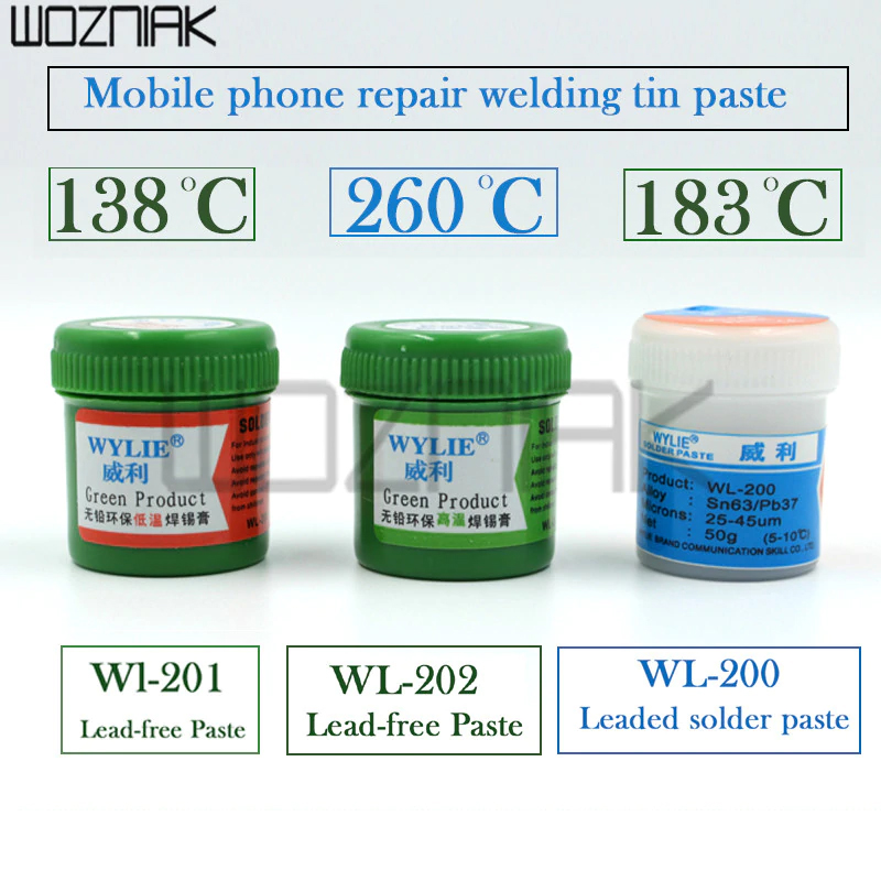 Lead-free Solder Paste Maintenance Soldering Tin For IPhone Slurry Low Temperature 138 Environmental Protection Tin Mud CPU Tin