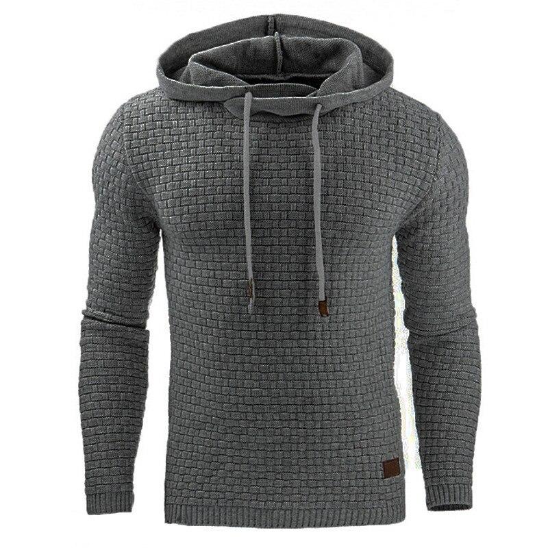 2018 Casual Hoodies Men Sudaderas Hombre Hip Hop Mens Brand Solid Color Hooded Pullover Hoodie Sweatshirt Slim Fit Men Hoody 4XL