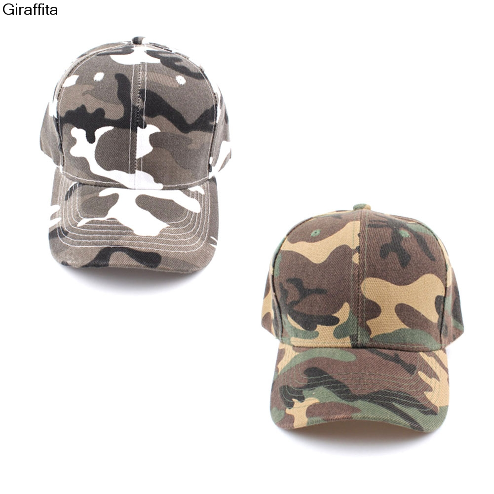 Fashion Half Mesh Army Hat Baseball Cap Desert Jungle Snap Camo Cap Men Women Camouflage Hats