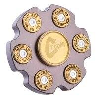 Brass Revolver Finger Spinner Hand Spinner EDC Fingertip Gyroscope Aluminum Alloy Stress Relief Toy Fidget Spinner