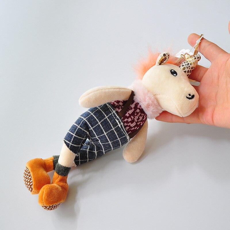 Plush Keychains Glorious Hot 19cm Plush Unicorn Stuffed Toys For Children Teddy Stuffed Animals Licorne Pikachu Pelucia Ty Gudetama Alpaca Stich Bright Luster