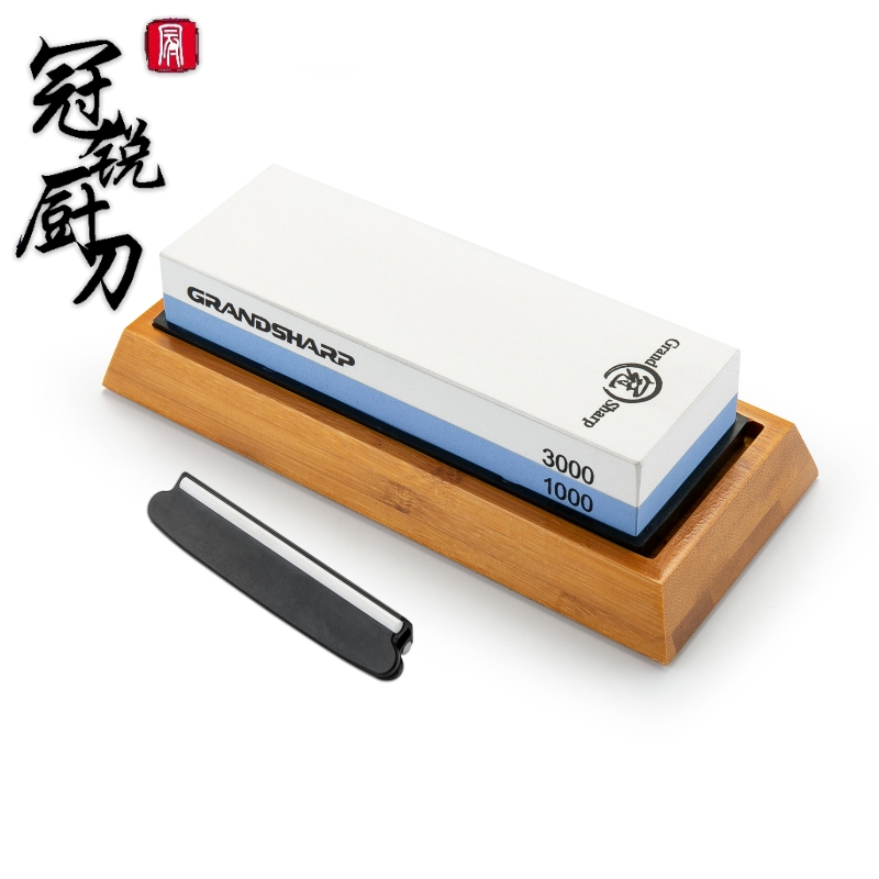 NEW 2019 Premium Whetstone Knife Sharpening Stone 2 Side Grit 1000 3000 Water stone Non slip