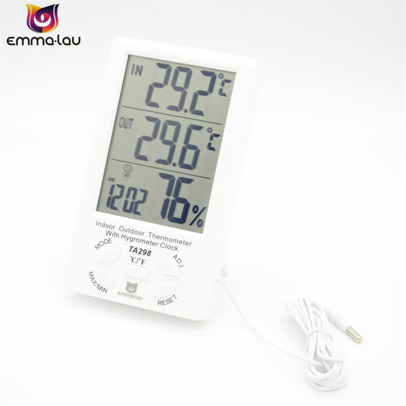 EL TA298 Temperature And Humidity Meter Indoor Outdoor Wire ...