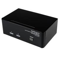 StarTech.com 2 Port DVI VGA Dual Monitor KVM Switch USB with Audio & USB 2.0 Hub, WUXGA, 1920 x 1200 pixels, 1920 x 1200 pix