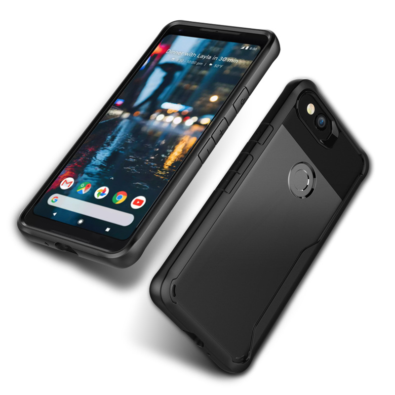 Case For Google Pixel 2 Xl Transparent Acrylic Back Shell And Soft TPU Silicone Edge Case For Google Pixel 2 Anti-Fall