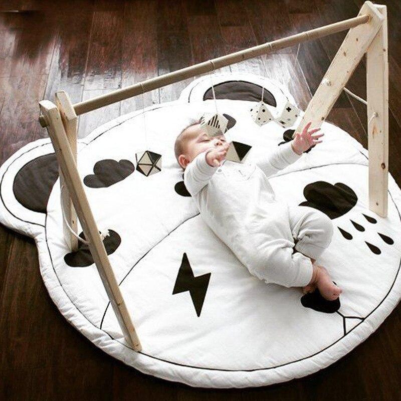 95 CM bébé infantile jouer tapis enfants ramper tapis tapis de sol bébé literie ours coton jeu tapis enfants chambre décor enfant jouets