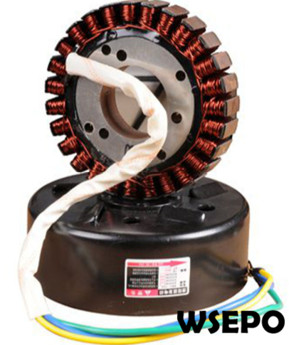 5000 Watt 27 Pole Voltage Customized 24V Stator and Rotor Kit for DC Generator fits on 19mm tapered 55mm output shaft