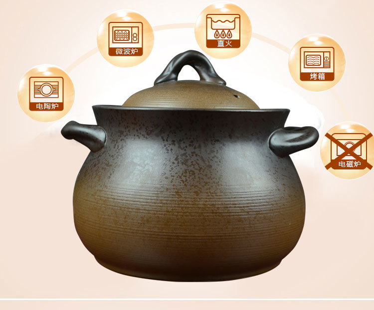 Pregnant woman casserole soup pot clay pot of Chinese household confinement large saucepan with lid porcelain pottery stew